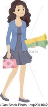 images teenage girl: illustration of sewing kit girl illustration of a teenage girl