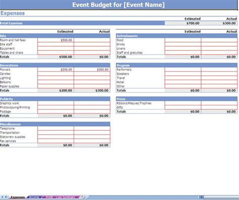 website budget template event budgeting excel template screenshot professional