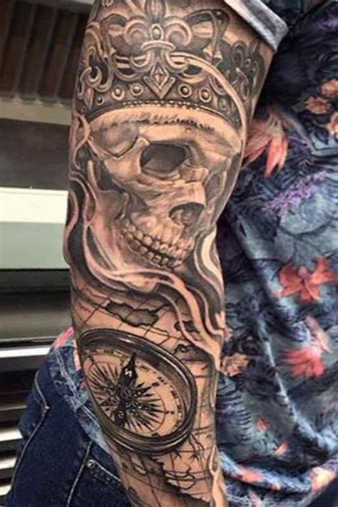 badass arm tattoos awesome skull designs ideas for and
