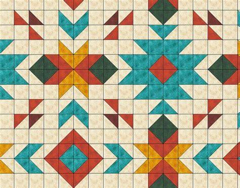 Southwest Quilt Patterns southwest inspired quilt pattern size 80 quot x 96 quot