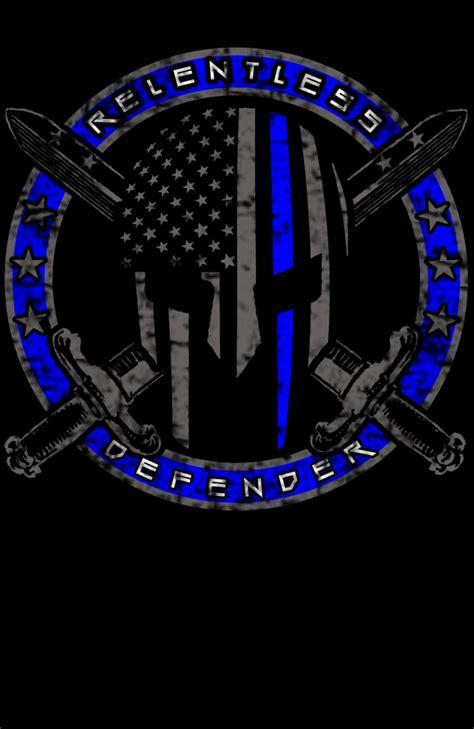 thin line logo relentless defender apparel logo design 48hourslogo