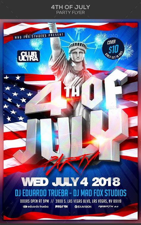 july party flyer inspirational  premium    july elements  ready