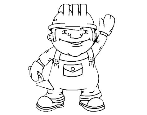 construction worker coloring page coloringcrew com