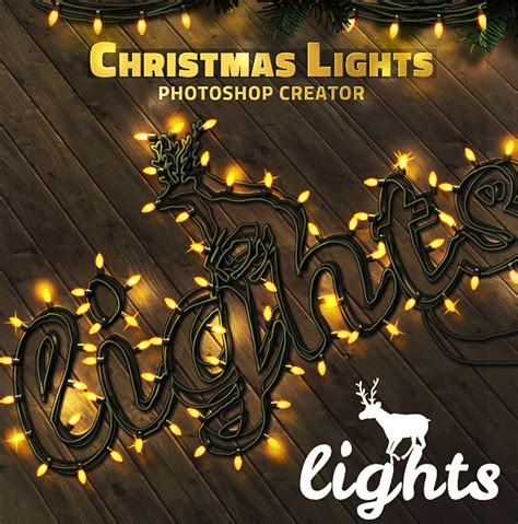 free download christmas light action for photoshop lights text style photoshop psddude