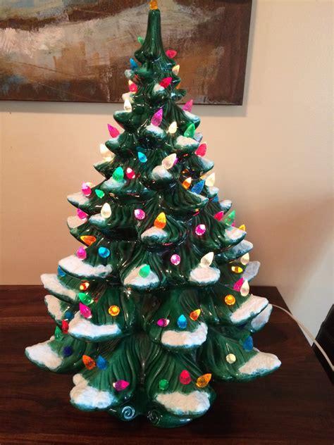 vintage artificial christmas tree