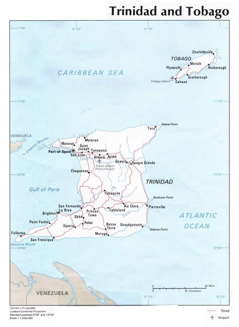 and tobago political map and tobago political map