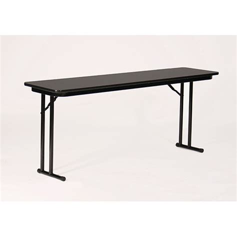 High Top Folding Table Correll St2472px 07 High Pressure Laminate Top Set Leg Folding Seminar Table Black Granite