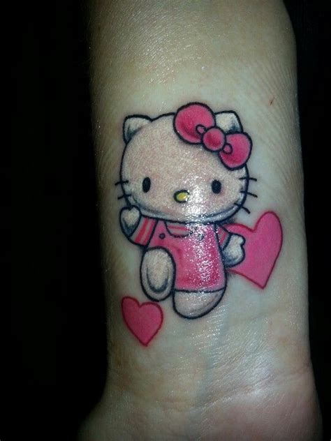 hello kitty tattoo on wrist hello tattoos designs ideas and meaning tattoos