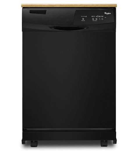 whirlpool black whirlpool portable black dishwasher wdp350paab