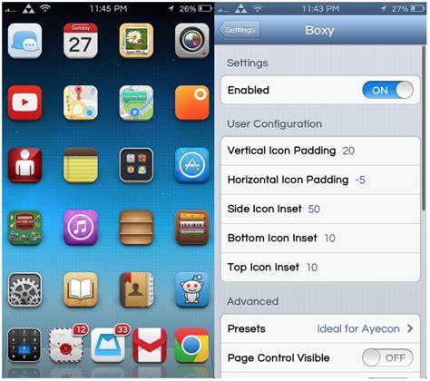 modificare layout iphone boxy il tweak per iphone che consente di personalizzare