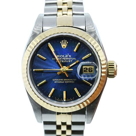 Rolex Datejust 69173 Blue Dial Two Tone Ladies Watch   Boca Raton