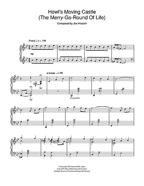 howls moving castle  merry    life partition par joe hisaishi piano