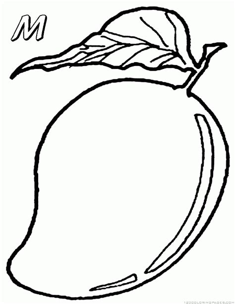 mango coloring pages preschool mango coloring pages