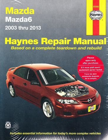 car repair manuals online free 2013 mazda mazda6 windshield wipe control 2003 2013 mazda mazda6 haynes repair manual