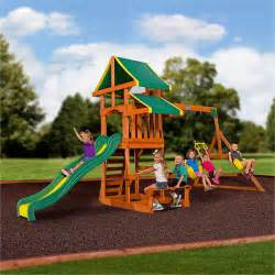 backyard wooden swing set backyard discovery tucson cedar wooden swing set walmart