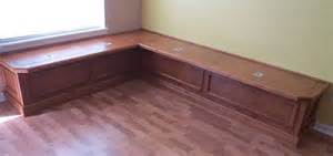 custom banquette or window seat with storage borders