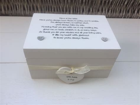 shabby personalised chic special nana of the bride gift keepsake box wedding