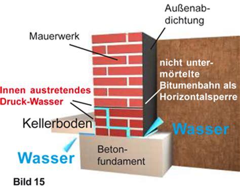 Fundament Trocken Legen by Druckwassersperre Bauwerksabdichtung Trockene W 228 Nde