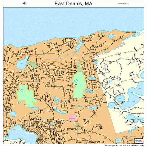 dennis ma east dennis massachusetts map 2518840