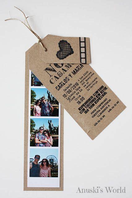 invitaciones originales para anunciar tu boda nosotras invitaci 243 n de boda original estilo fotomat 243 n tu boda en mil detalles