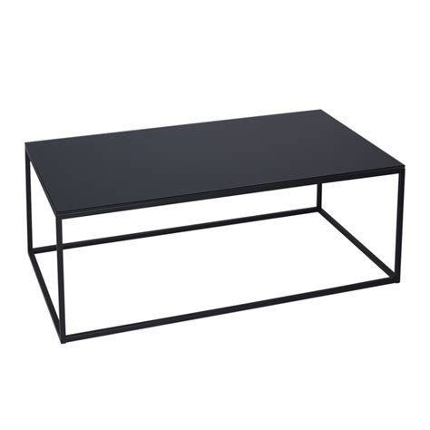 buy black glass and metal rectangular coffee table from