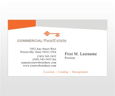 real estate business cards templates document moved