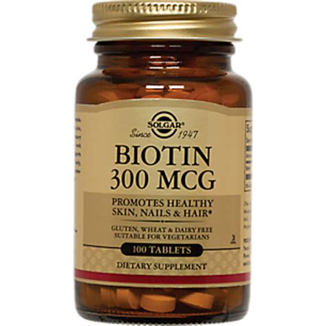 Biotin 7500 Mcg Isi 100 Tab Biotin 300 Mcg 100 Tablets By Solgar At The Vitamin Shoppe