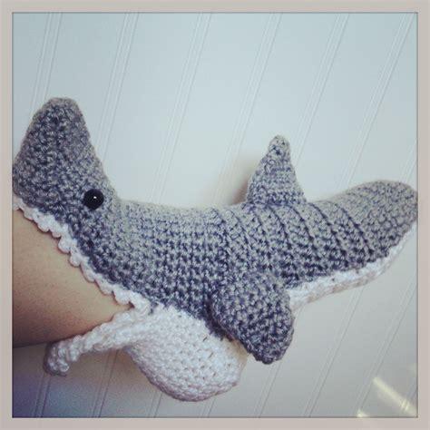 shark slippers crochet pattern crochet shark slipper socks 35 00 free shipping must