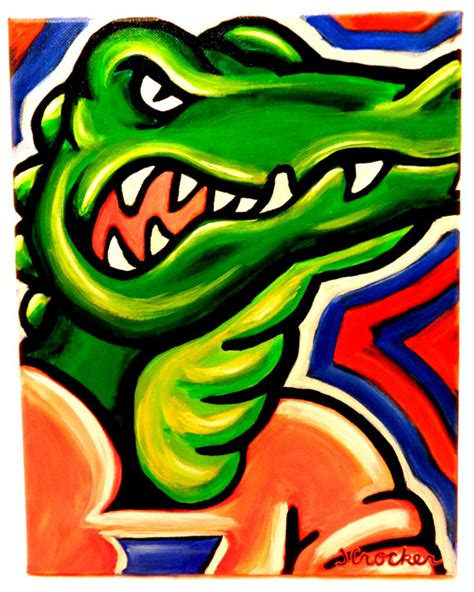 florida gators painting sports college colleges
