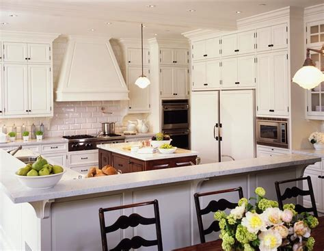 White Kitchen Cabinets With Rubbed Bronze Hardware by Traditional Kitchen Design With White Kitchen Cabinets