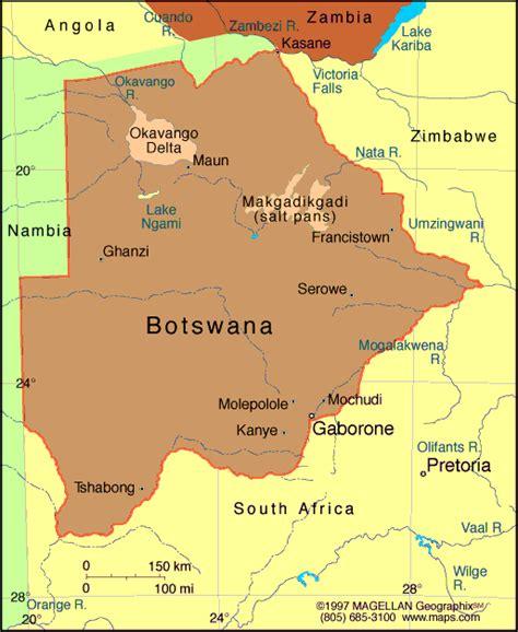 botswana map atlas botswana