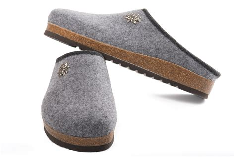 model slippers handmade tyrolean slippers innsbruck model grey