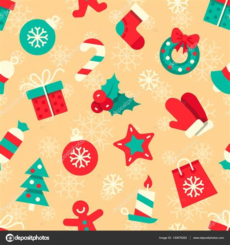 wrapping paper pattern vector christmas vector seamless pattern colorful flat icons on