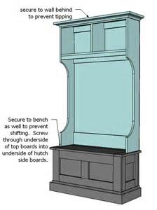 Entry Foyer Benches Hall Tree Bench Plans Diywoodplans