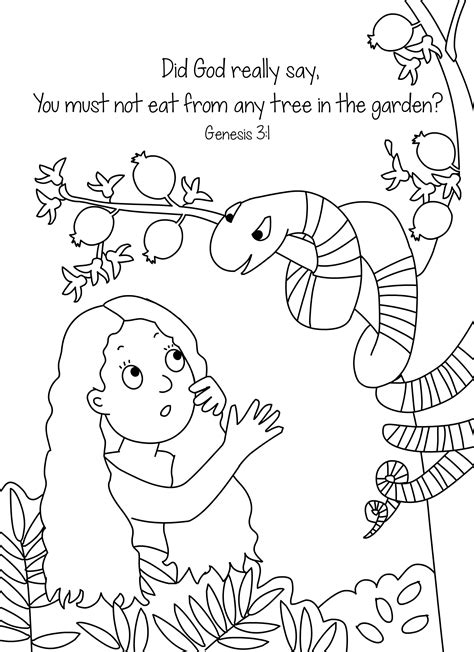 preschool coloring page adam and eve adam and eve and the sneaky snake color page from cullen s