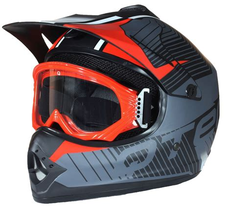 motocross helmets with goggles childrens kids motocross style mx helmet goggles off