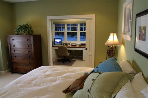 master bedroom with office area excelsior farmhouse cottage traditional bedroom