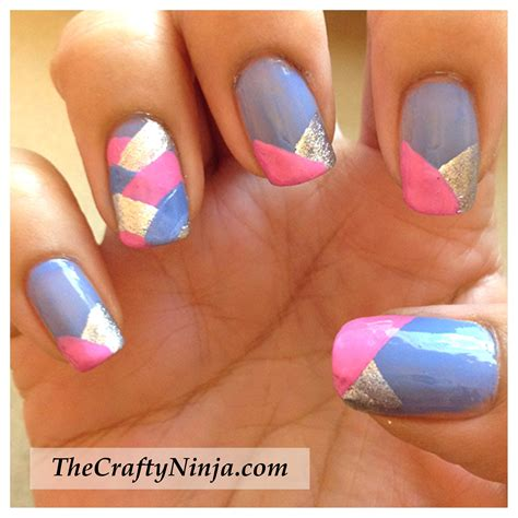 Tutorial Nail Art Pita | fishtail braid nails the crafty ninja