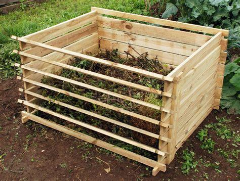 compost container garden easy load wooden compost bin garden waste composting wood