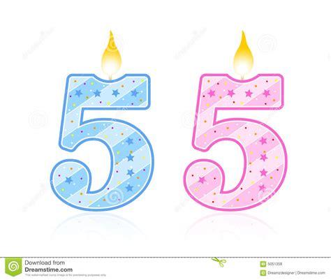 imagenes de cumpleaños numero 23 vela del cumplea 241 os 5 ilustraci 243 n del vector