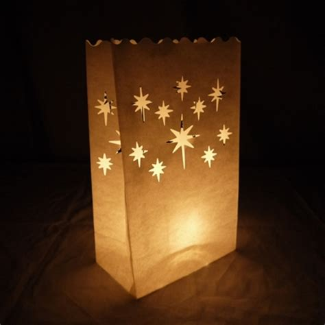 How To Make Paper Bag Luminaries - starburst paper luminaries luminary lantern bags path