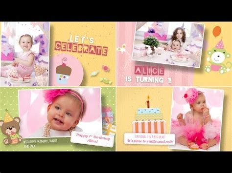 after effects free templates baby photo gallery baby template doovi