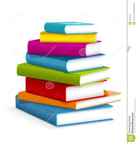 clipart libri pila di libri illustrazione vettoriale illustrazione di