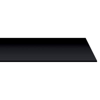 mensola nera mensola nera 1200x200x18mm mensole ripiani e supporti