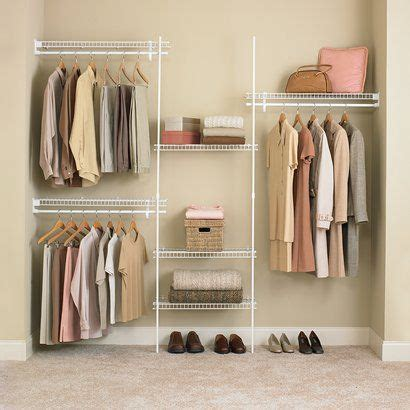 Walk In Wardrobe Kits by Closetmaid Superslide Closet Organizer Kit White 5 To