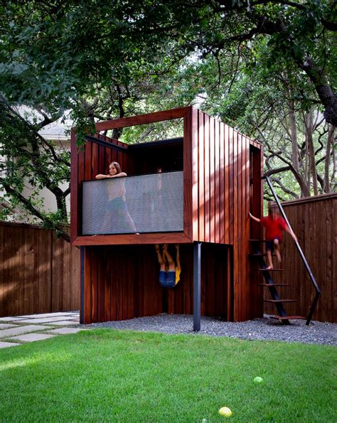 playhouse dwell com 15 modern playhouses for cheerful backyards