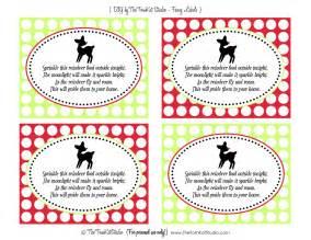 Printable reindeer food printable tags reindeer food poem printable