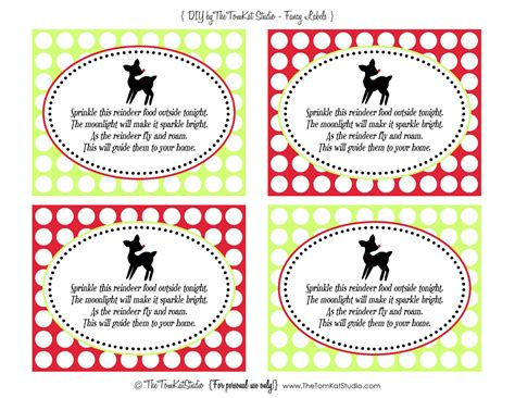 free reindeer food printable tags search results