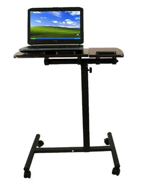 portable standing desk amazon new mobile rolling laptop computer notebook portable