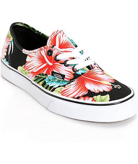 Vans Skool Aloha Flower Motif vans authentic hawaiian floral shoes womens at zumiez pdp
